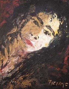 Bruja del pintor contenporáneo Tiziano